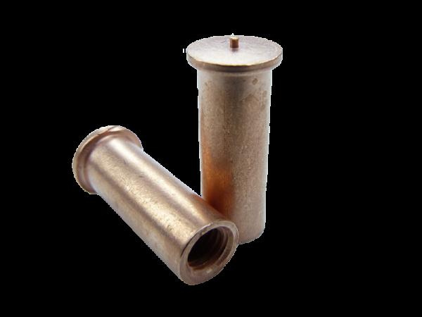 IT Ø6 x 30 - M4 x 6, Stahl verkupfert