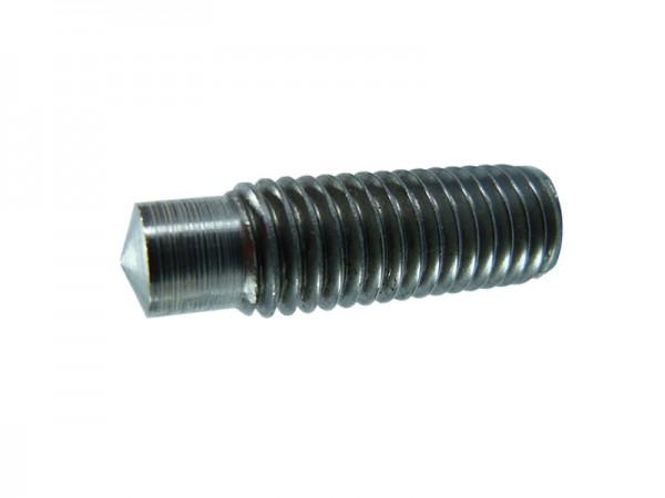 RD M12 x 30, Stahl blank ohne Alukugel