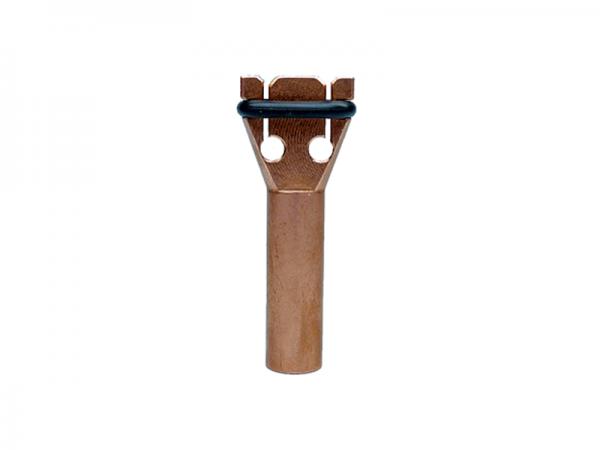 Bolzenhalter für Doppel- Flachstecker Typ FS 6.3 F2