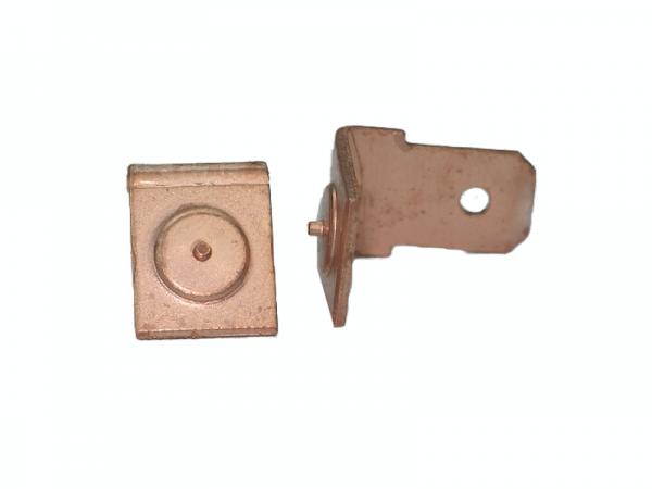 Flachstecker 6.3, Typ F1 Stahl verkupfert